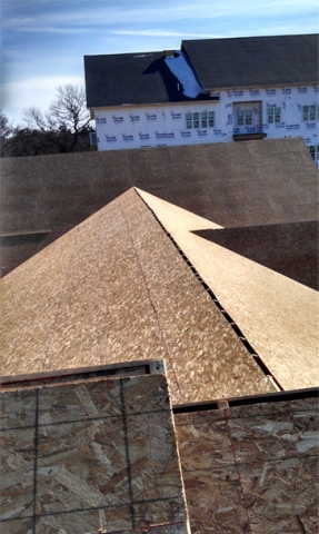 Eau Claire Roofing project - before shingling