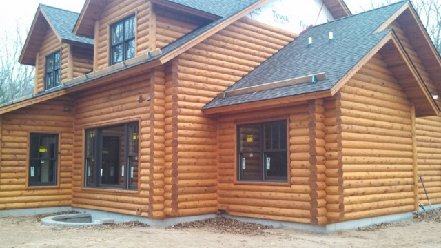 Log home look 2 in Eau Claire