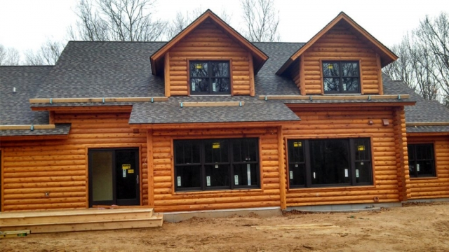 Log home look 3 in Eau Claire