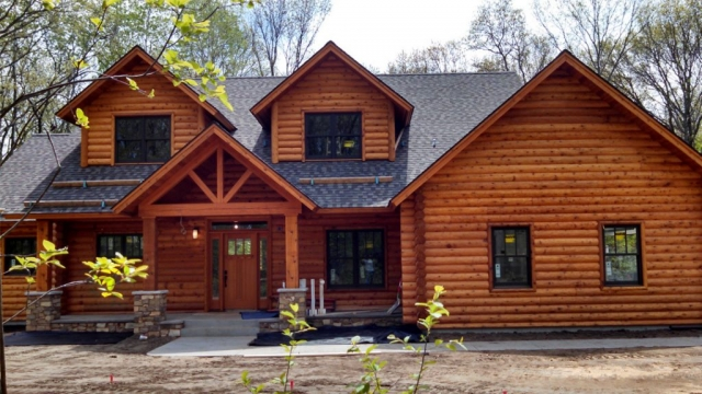 Log home look in Eau Claire