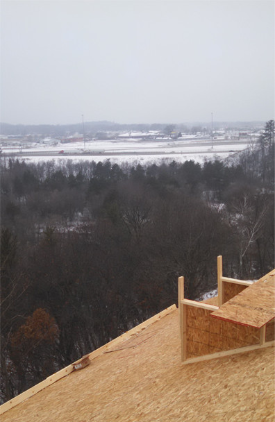 Roofing a home with view