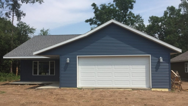 Siding and roofing garage