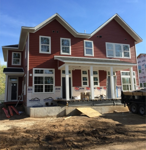 Siding project in Eau Claire WI